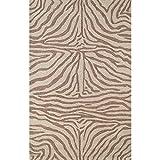 Liora Manne Ravella Zebra Rug, Indoor/Outdoor, 5-Feet by 7-Feet 6-Inch, Brown