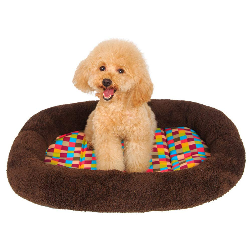 Pet Bed, Kennel mat, Soft colorful Square pet nest (L 80W 62H 5cm)