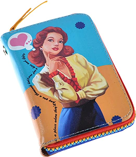Retro 50s amorous Pin Up Girl Corazón Dinero Bolsa Rockabilly Vintage Monedero Vgl. Bilder Talla única: Amazon.es: Ropa y accesorios