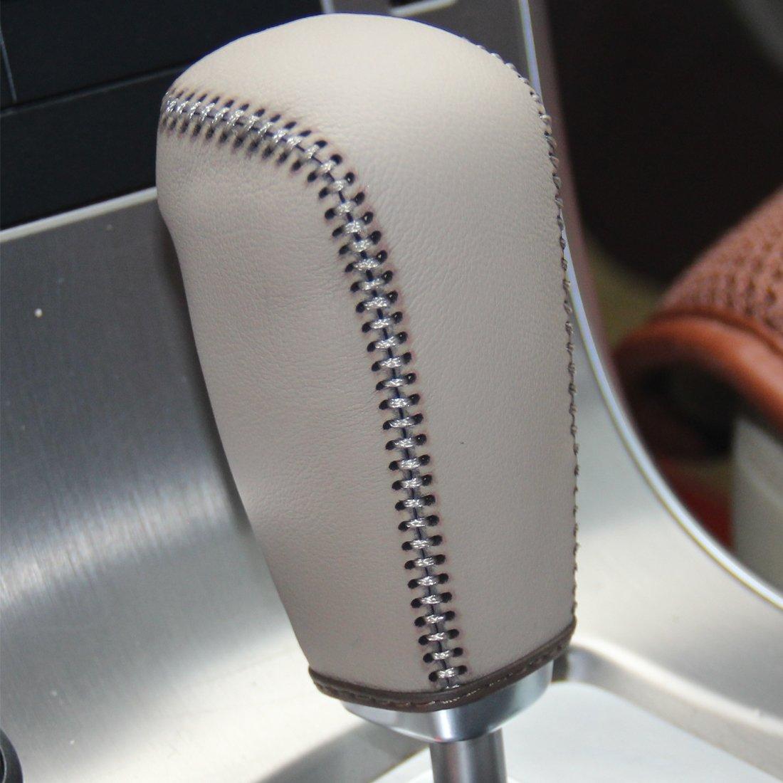 2007 2008 2009 2010 2011 2012 Volvo S80 2008 2009 2010 Volvo V70 2008-2012 Volvo XC70 Automatic JI Loncky Genuine Leather Gear Shift Knob Cover for 2011 2012 Volvo S60 2010-2012 Volvo XC60