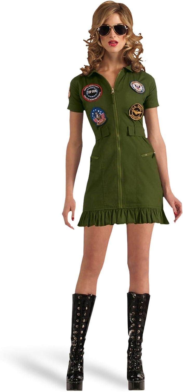 Top Gun - disfraz de piloto en minivestido - traje sexy de mujer ...