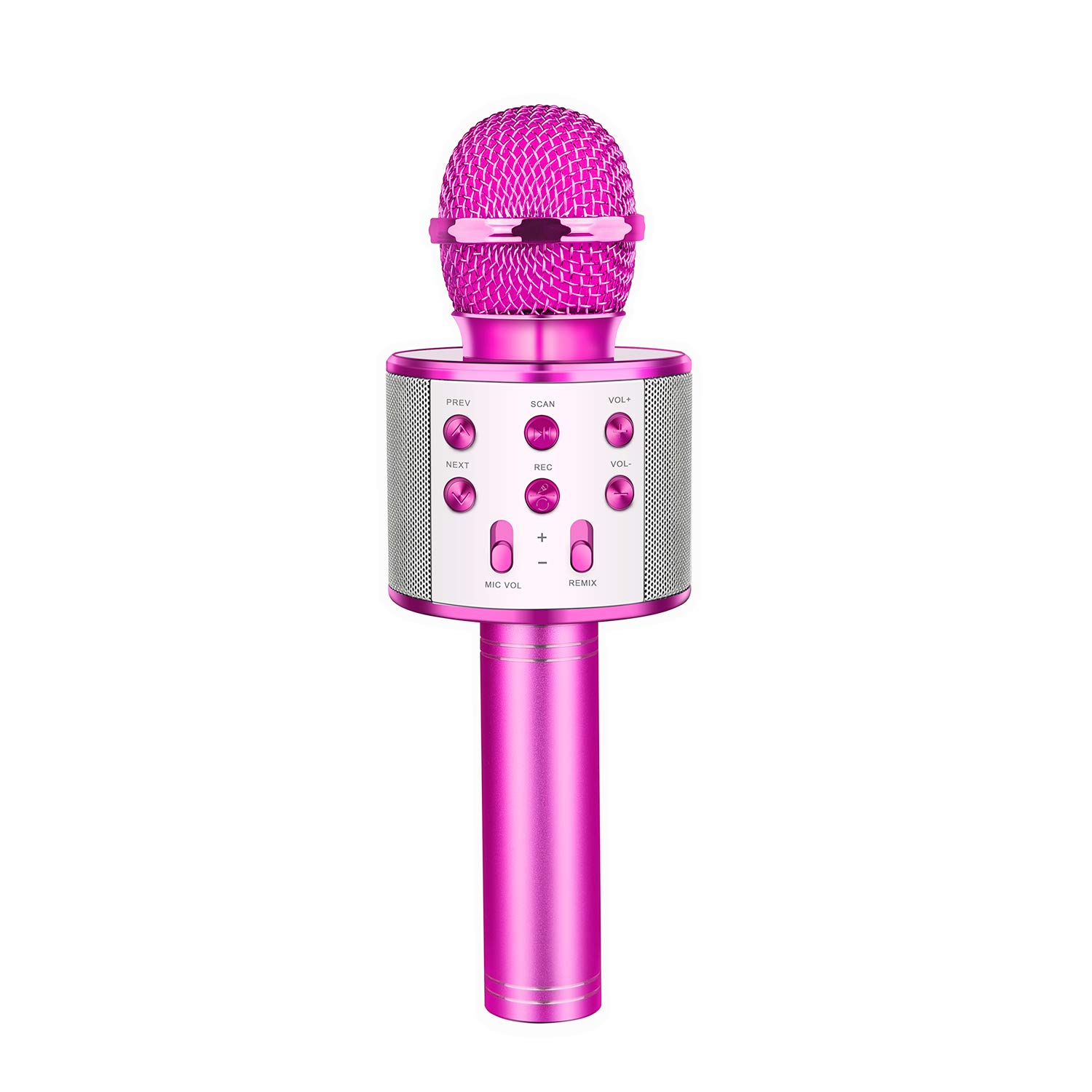 OPO Karaoke Microphone Wireless with Bluetooth, Portable Handheld Mic Speaker Home, Party Singing Compatible with iPhone/Android/PC (Purple)