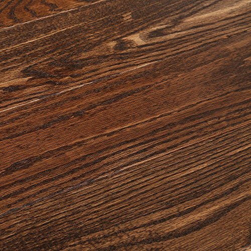 American Vintage Scraped Mocha 3/4 in. Thick x 5 in. Wide x Varying Length Solid Hardwood Flooring (23.5 sq. ft. / case) - Mocha Hardwood Flooring