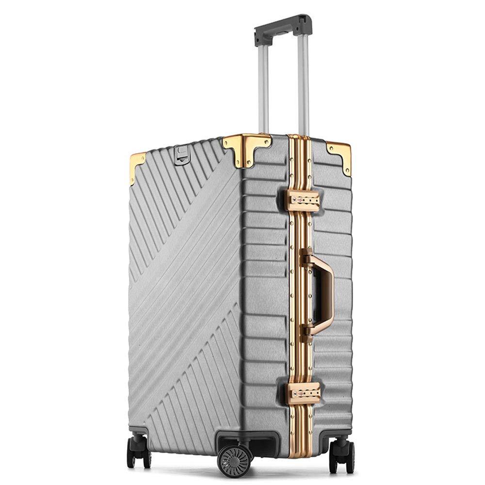 YD スーツケース トロリーケース - ABS/PC、TSA税関コードロック、スタイリッシュなつや消しツイル、アルミフレーム衝突防止ユニバーサルホイール学生ビジネストラベル搭乗シャーシ - オプションで2色3サイズ /& (色 : Gray, サイズ さいず : 46*27*67cm) B07MW12KR1 Gray 46*27*67cm