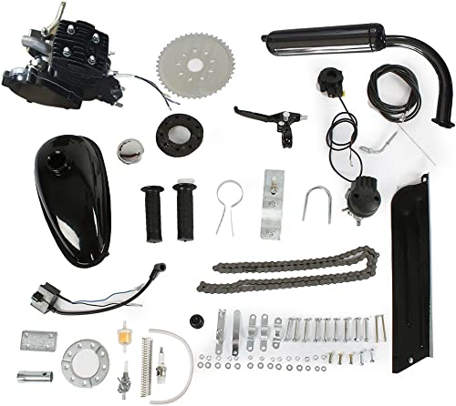 PEXMOR 2-Stroke 80cc 50cc Bicycle Motor Kit Motorized Bike Cycle Gasoline Petrol Gas Engine Refit Kit, Super Fuel-efficient for Bicycle Scooter