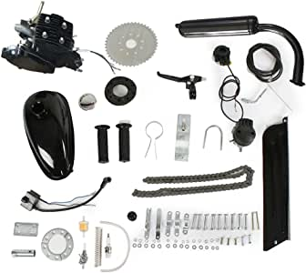 PEXMOR 2-Stroke 80cc/50cc Bicycle Motor Kit Motorized Bike Cycle Gasoline Petrol Gas Engine Refit Kit, Super Fuel-efficient for Bicycle Scooter