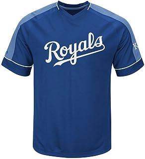 001411729 Majestic Kansas City Royals MLB Mens Lead Hitter Jersey Royal Big   Tall  Sizes