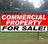 COMMERCIAL PROPERTY FOR SALE 13 oz heavy duty vinyl banner with grommets (many sizes available)