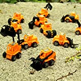 Dazzling Toys Construction Vehicles Pull Back Style - 12 Pack (D133)