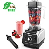Betitay Smoothie Blender,1500W Commercial Blender Professional Milkshake Maker Food Processor Mixer with 68 Ounce Tritan Pitcher and Lid,Tamper,Stainless Steel 6-Blade and Recipe,Safe Lock Design