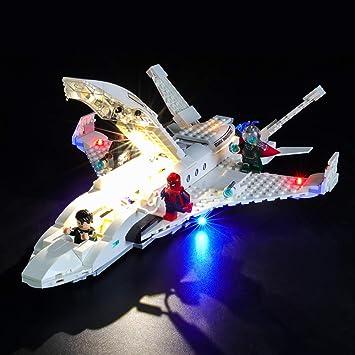 BRIKSMAX Kit de Iluminación Led para Lego Super Heroes Jet Stark y ...