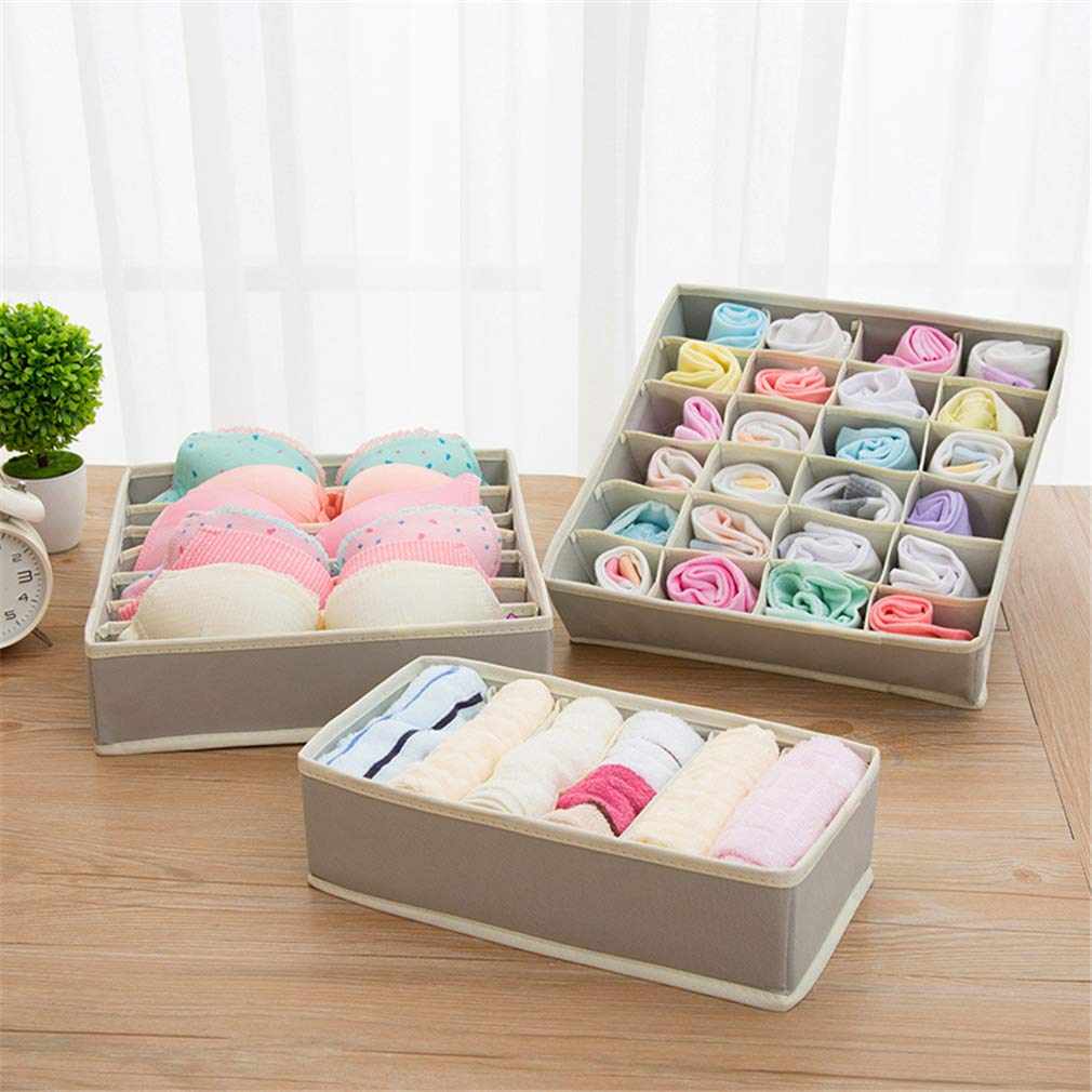 VADOLY Foldable Underwear Bra Nothing Covering Cloth Art Arrangement Home Organizer Storage Boxes Chest Box