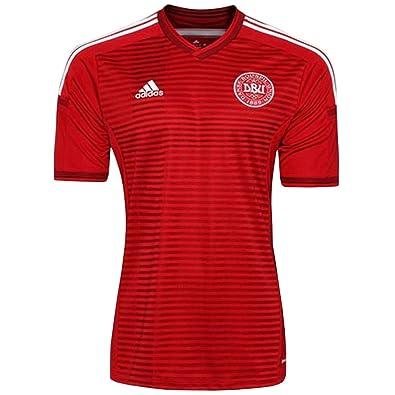 Amazon.com  adidas New Men s 2014 Denmark Soccer Jersey Red  Clothing 6bc29cedb