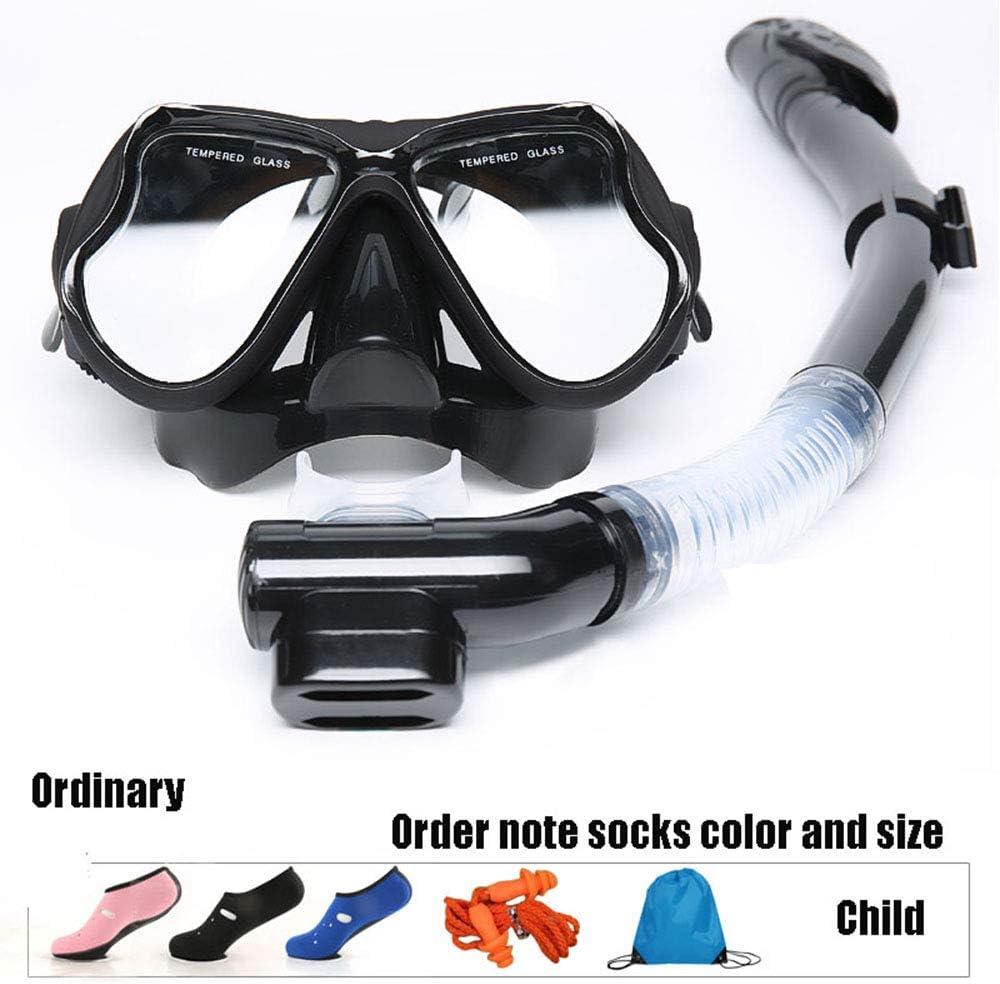 Mitrc Juego de máscaras de esnórquel para niños, máscara de Buceo para Nadar con Snorkel, Equipo de Snorkel con respiración fácil de bucear con máscara de Silicona para bucear
