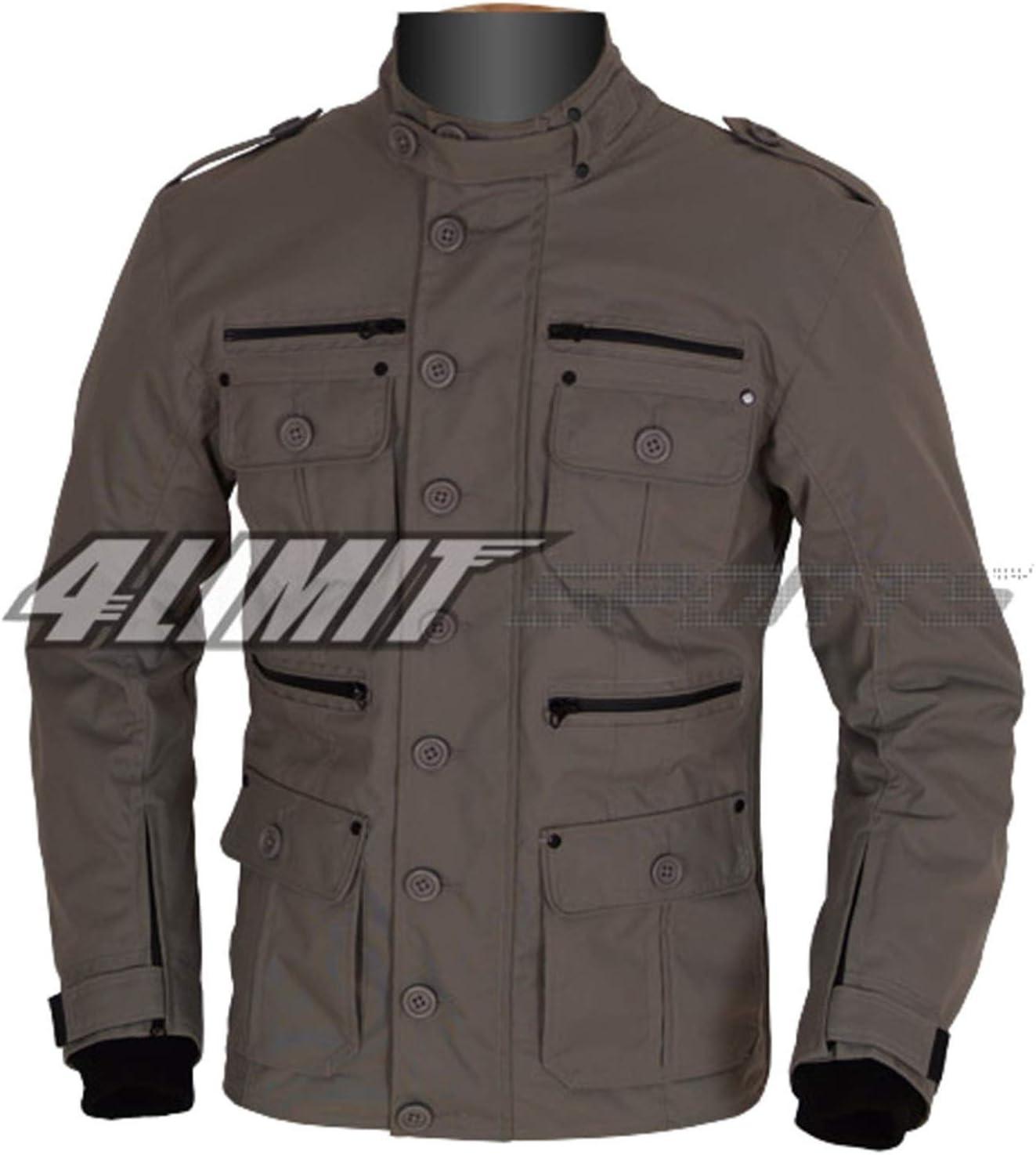 4limit Sports Motorradjacke Gentleman Outdoor Textil Jacke Umbra Grau Auto