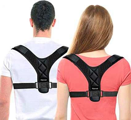 Posture Corrector Adjustable Upper Back Brace for Men and Women Back Straightener for Improve Posture and Relieve Pain in Neck and Shoulder