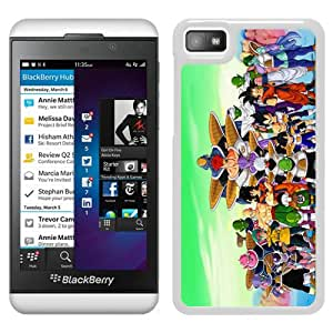 Beautiful Designed Cover Case For Blackberry Z10 With Dragon Ball White Phone Case