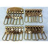 ● キーケース 金具 A 6連 4個入り 幅48mm 厚タイプ 六連 真鍮古美色