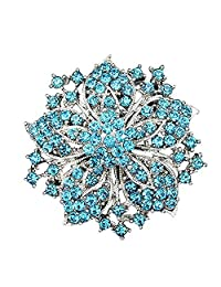 Crystal Flower Brooch Pin Fashion Crystal Bauhinia Pin for Women in Bouquet Wedding
