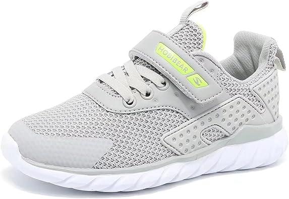 Children Sports Shoes Hook /& Loop Trainers Athletic Mesh School Running Sneakers