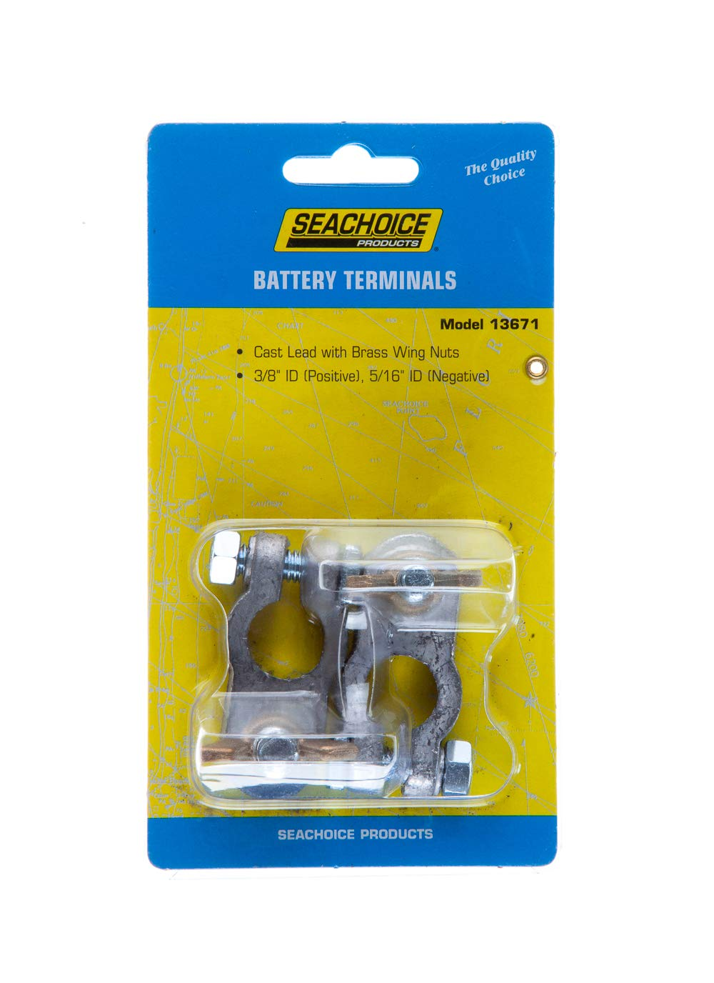 SEACHOICE 13671 Boat Battery Terminal Stud to Post Adapter 5//16