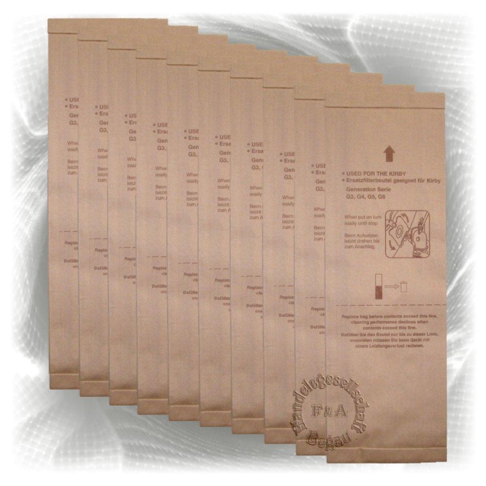 Bolsas - 10 pack - para aspiradoras Kirby G3 G4 G5 G6 G7 G8 G10 Handelsgesellschaft Begau