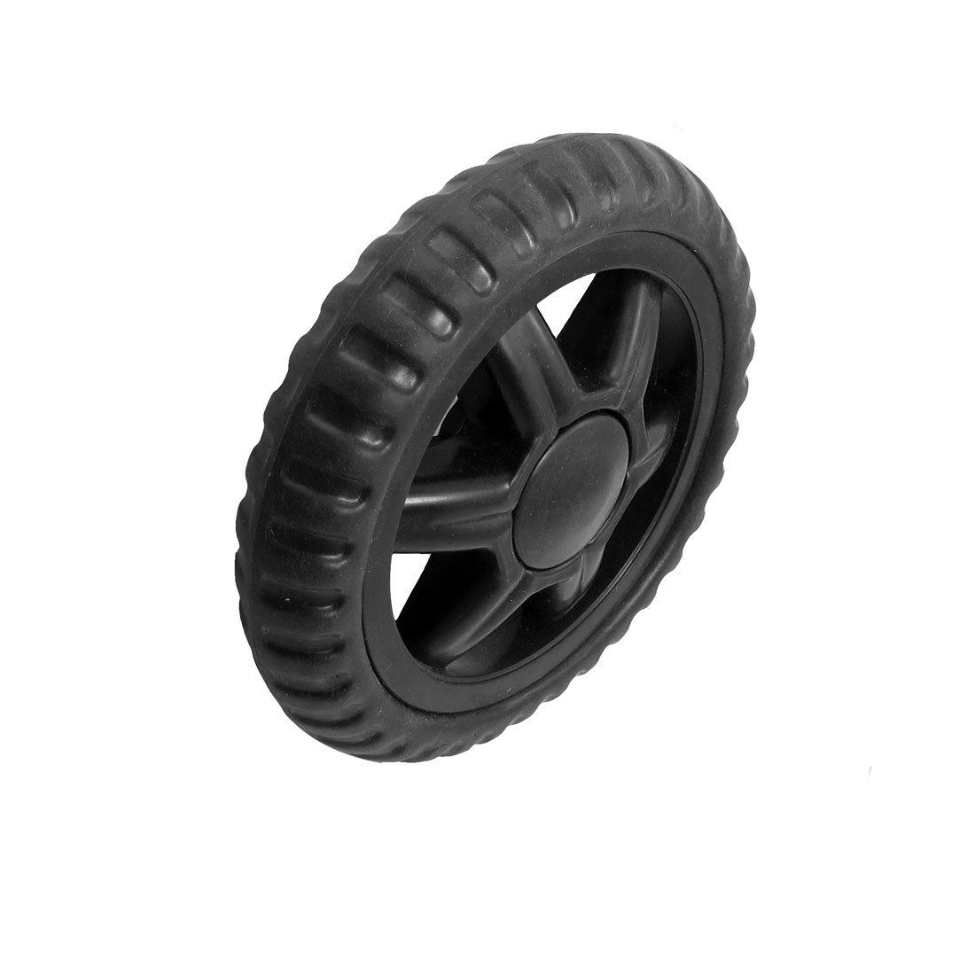 Sourcingmap a12101600ux0433 - Ruedas de repuesto (2 unidades, para maleta con ruedas o carrito de la compra, goma), color negro: Amazon.es: Industria, ...