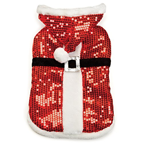 Zack & Zoey Sparkle Sequin Velvet Santa Coat, Medium ()