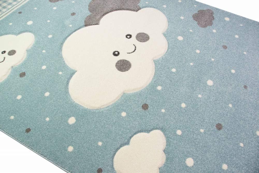 Merinos Nuages de Tapis pour Enfants Tapis de Jeu Blue Gr/ö/ße 80x150 cm