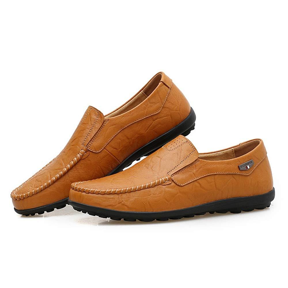 WWJDXZ Herren Leder Mokassin-Gommino Low Cut Schuhe Comfort Comfort Comfort Flats Business Schuhe Atmungsaktiv Fahrende Schuhe Loafer Stiefelschuhe beiläufig  7c502a
