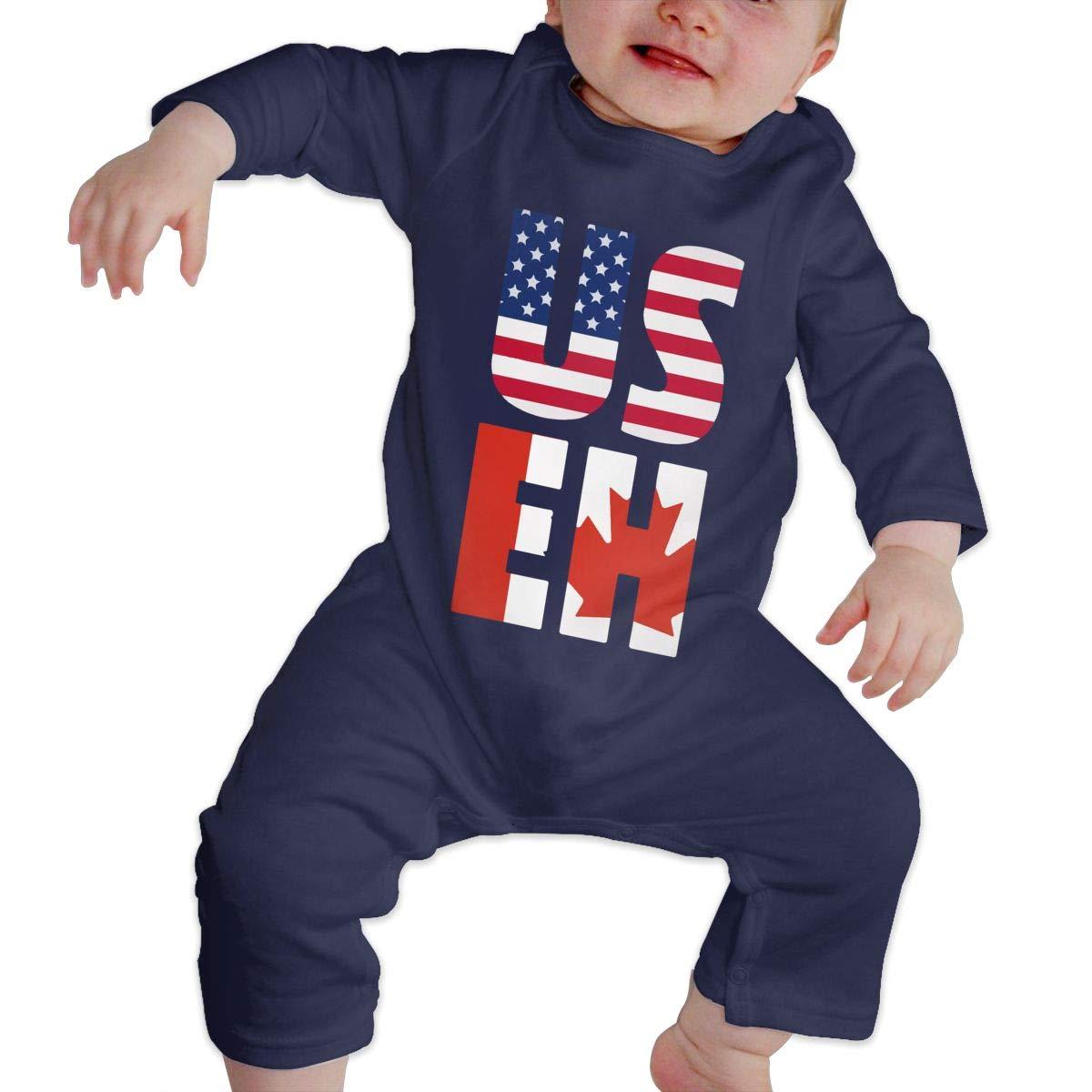 Warm America Canada Cotton Db84UR@5p Infant Baby Girls Boys Long Sleeve Bodysuit