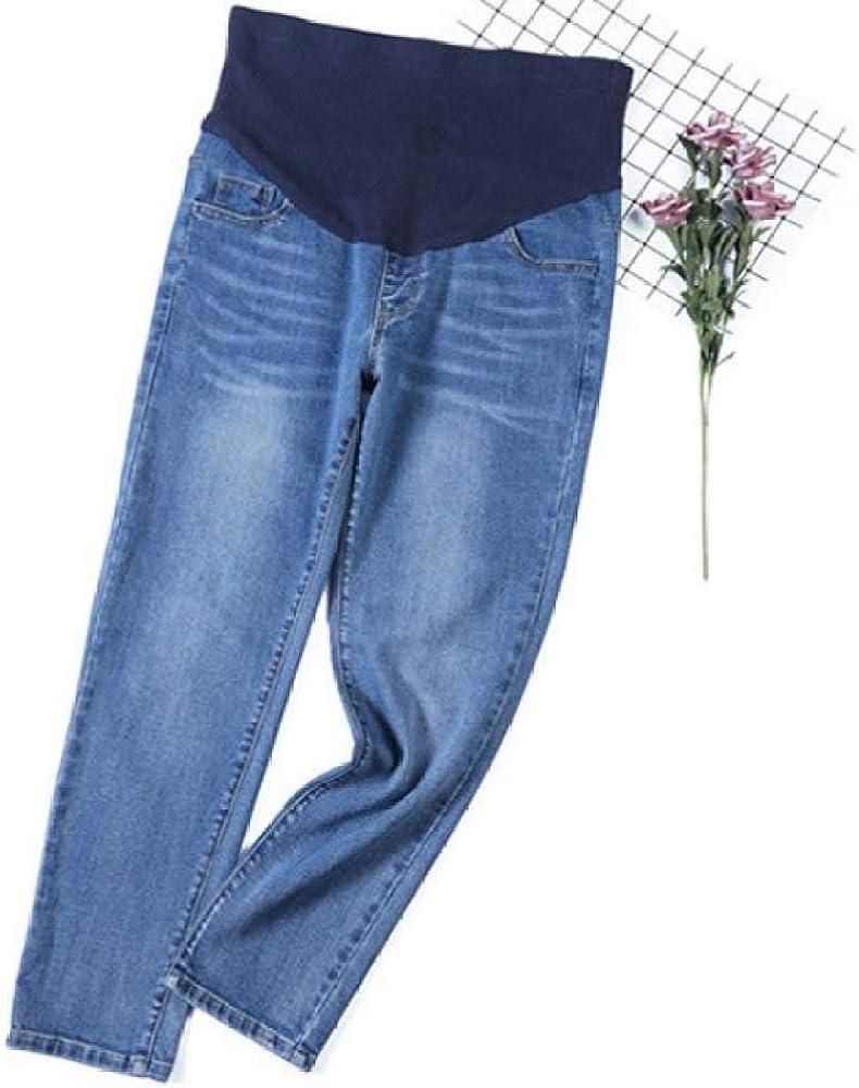 U//A Large Size Maternity Pants Loose Wide Leg Plus Fat Pregnant Women Jeans Adjustable Waist Maternity Dress Pregnant Clothes