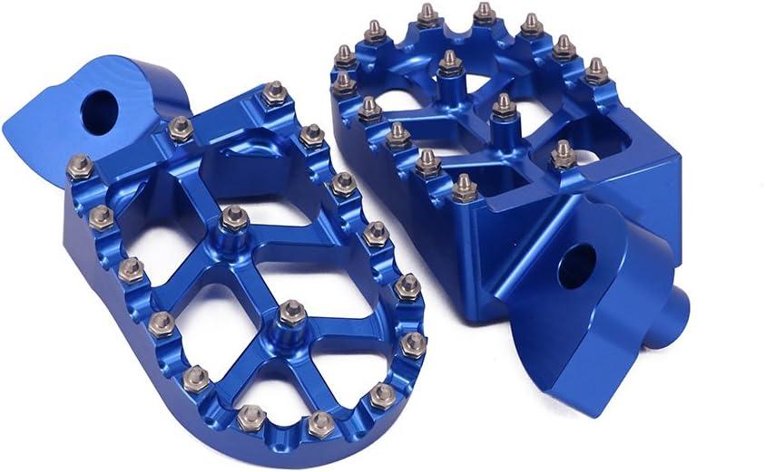 Moto CNC P/édales Repose Pieds Repose-Pieds pour Yamaha YZ85 YZ125 YZ250 YZ426F YZ450F YZ250X YZ250FX YZ450FX WR250F WR400F WR426F WR450F