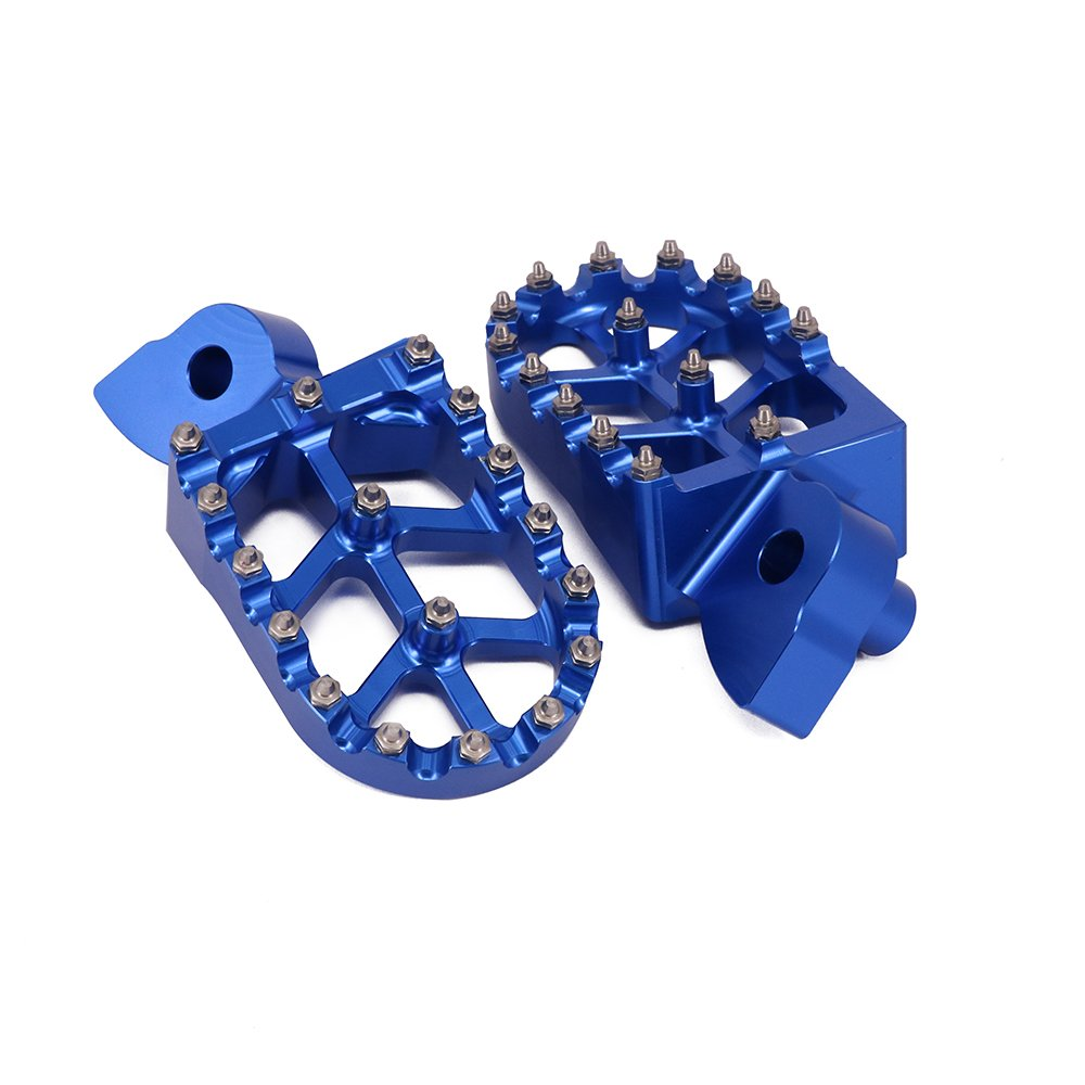 Foot Pegs Rest Pedal Footpegs For Yamaha YZ65 2018 YZ85 02-19 YZ125 97-17 YZ250 98-19 YZ250F 01-19 YZ426F 00-02 YZ450F 03-19 YZ125X 17-19 YZ250X YZ450FX YZ250FX WR250F WR400F WR426F WR450F