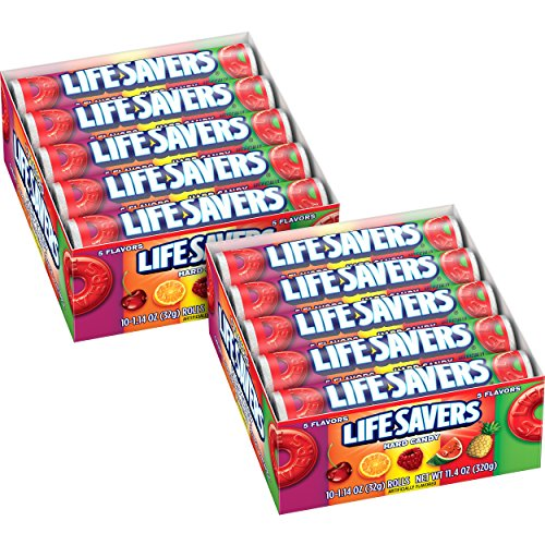 Life Savers 5 Flavors Hard Candy Rolls, (Pack of -