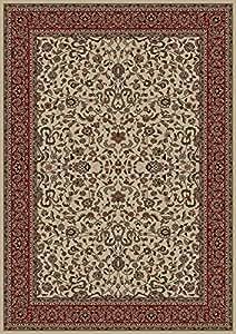 "Oriental Classics Kashan Ivory Rug Rug Size: 9'3"" x 12'10"""