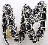 YACQ Jewelry Women's Crystal Stretch Snake Bracelet