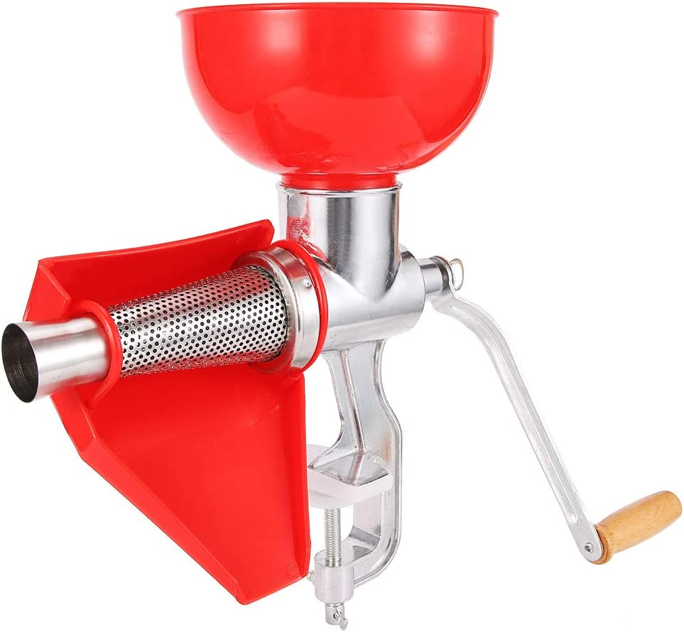 Manual Juicer, Aluminum Alloy Hand Cranking Lemon Juicer Orange Juicer Tomato Sauce Squeezer Kitchen Multifunctional Juicer for Squeezing Fruit Vegetables