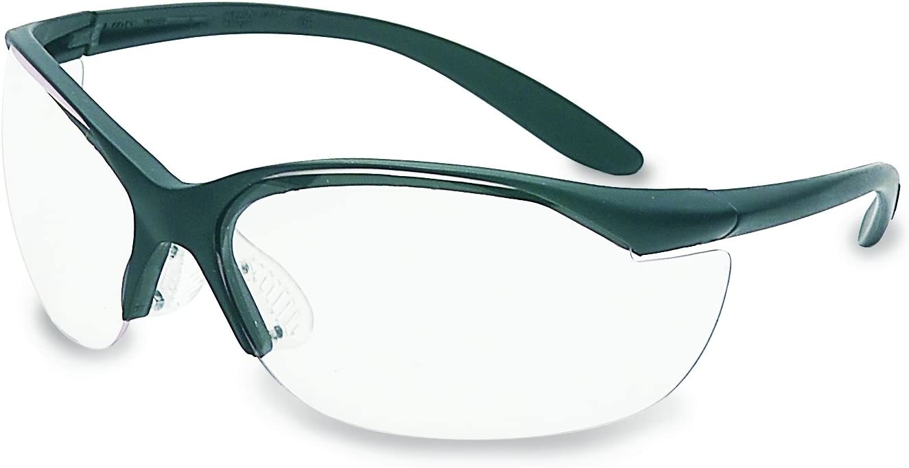 HONEYWELL UVEX 11150910 Vapor II Safety Glasses Black Frame And Clear