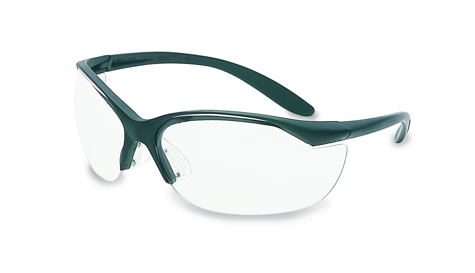 UVEX by Honeywell 11150910 Vapor II Series Safety Eyewear, Black Frame, Clear Lens with Anti-Scratch Hardcoat