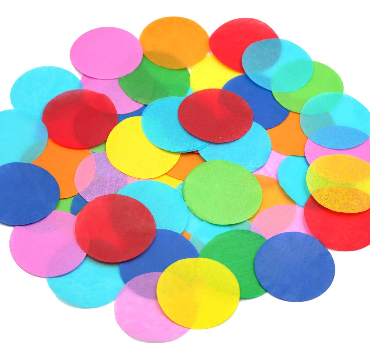 Ultimate Confetti 2'' Multicolor Biodegradable Tissue Circles-Great for Parties, Decorations, Kids Birthdays, Arts and Crafts! by Ultimate Confetti