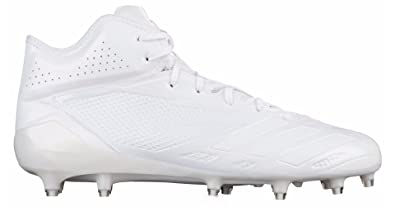 adidas Adizero 5-Star 6.0 Mid Cleat - Men s Football 15 White White  2c88fb7f649c