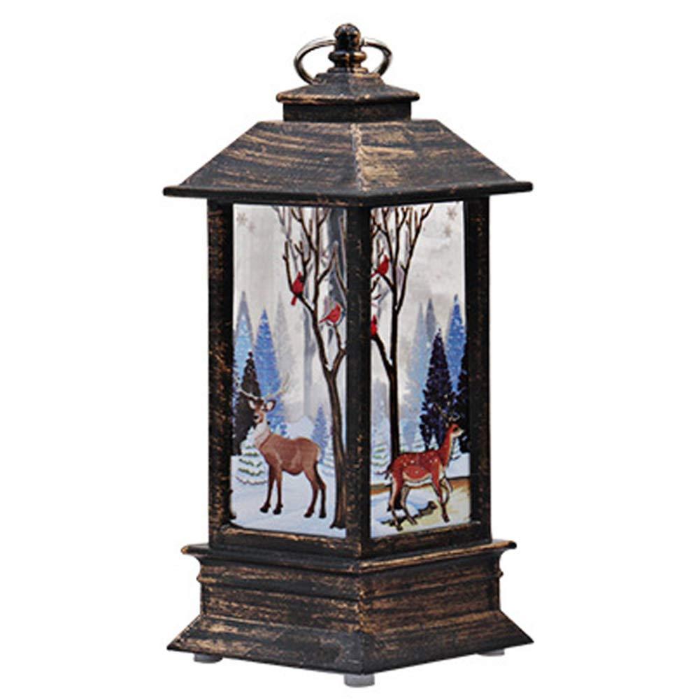 Small Christmas Lantern Lamp Desk Light Festival Table Decoration for Home Bar Gymoning Garden Decoration Lamp