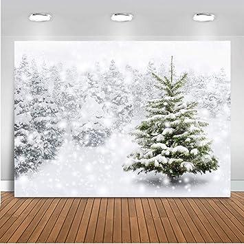 Photography Background Grey 7x5ft White Snowflake Winter Wonderland Photo Backdrops for Christmas Holiday Customized Photo Studio Backgrounds