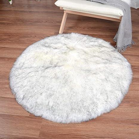 Amazon.com: Mover - Alfombra de piel de oveja sintética ...