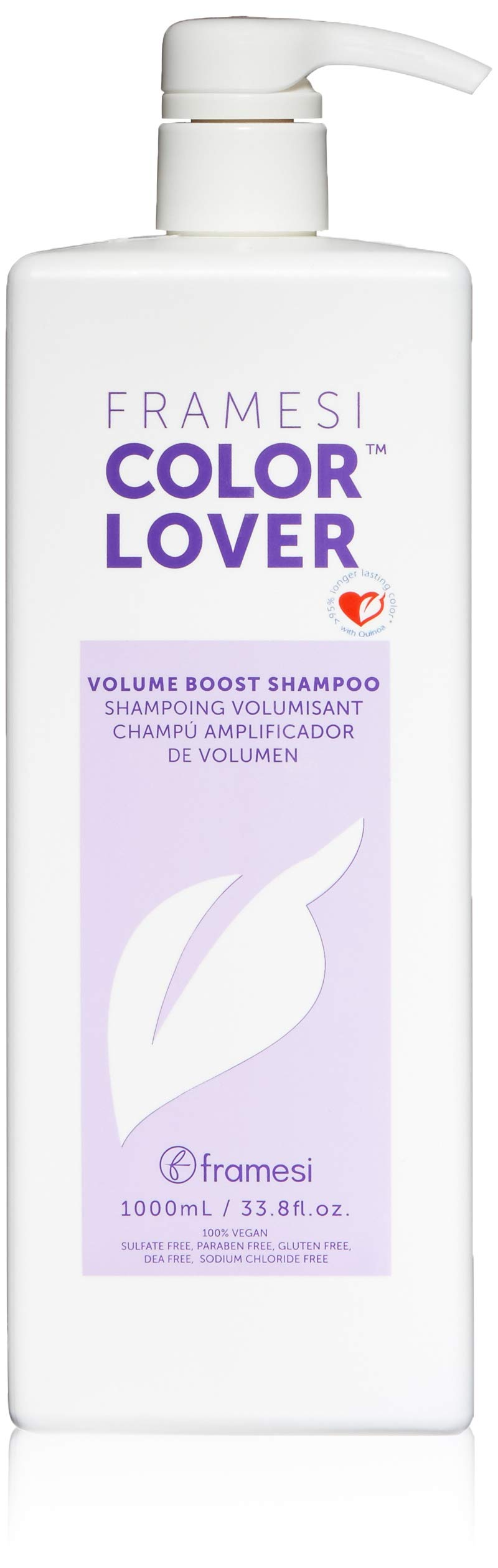 Framesi Color Lover Volume Boost Shampoo - 33.8 Ounce, Color Safe, Weightless, Volume Shampoo With No Sulfate, Vegan, Gluten Free, Cruelty Free by framesi