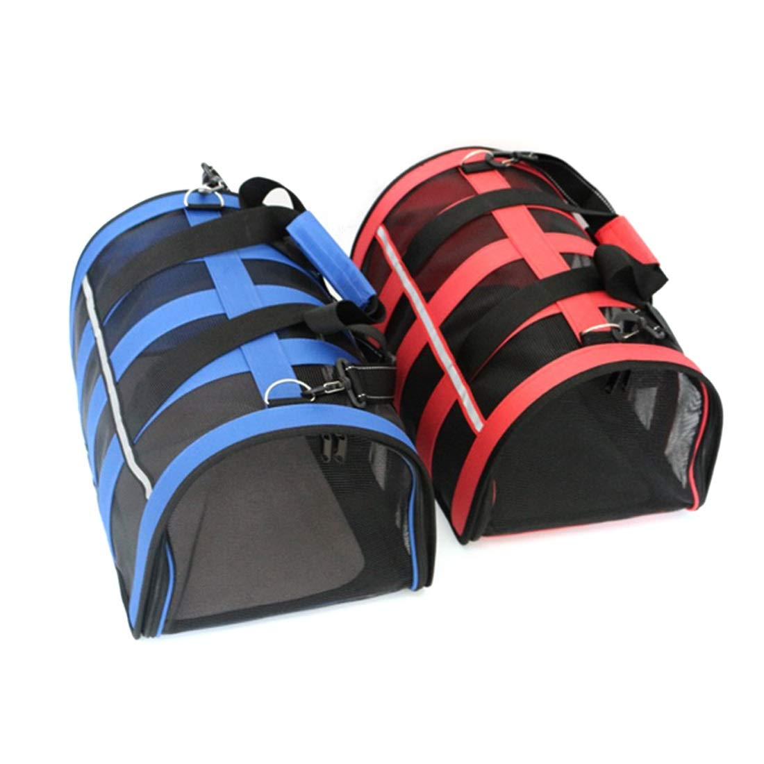 Red L Red L HUAyue Pet Backpack Outside Oxford Cloth Mesh Out Portable Dog Breathable Slash Cat Bag (color   Red, Size   L)
