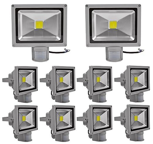 Leetop 10X 20W Blanco Frio LED Foco Proyector Luz, Foco proyector ...