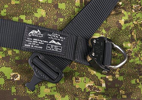 Helikon-Tex Patrol Line, Cobra Tactical D-Ring Belt FX38 Black, Up to 36 Pants Size / 47'' Belt Length by HELIKON-TEX (Image #3)