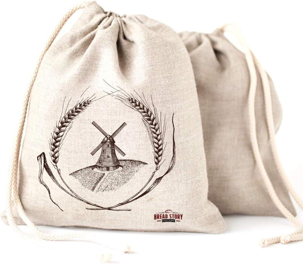Pan bolsas de lino, 2 unidades, 30x40cm ideal para pan casero, sin ...